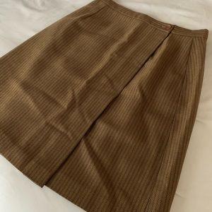 Saks Fifth Avenue Brown Pinstripe Skirt